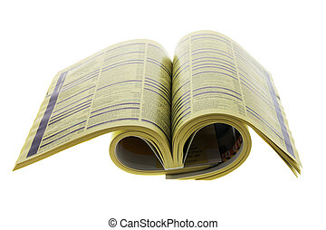 Phone Directory on Isolated White Background