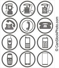 phone evolution icons