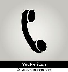 Phone flat icon on grey background