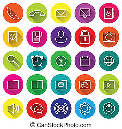 Phone flat Icons for application