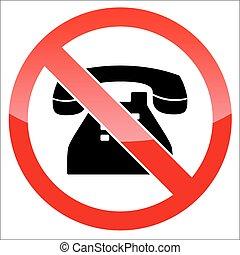 Phone forbidden icon