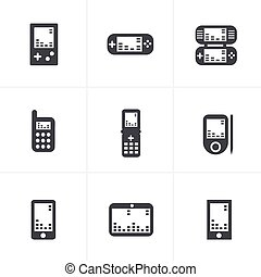 Phone Game icons, vector.
