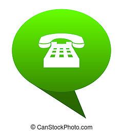 phone green bubble icon