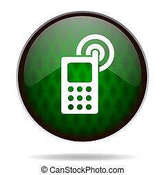 phone green internet icon