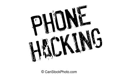 Phone Hacking rubber stamp. Grunge design with dust...