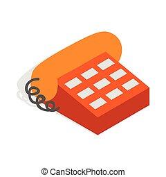 Phone handset icon, isometric 3d style