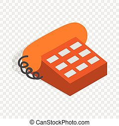 Phone handset isometric icon