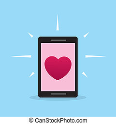Phone Heart Screen