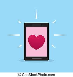 Phone Heart Screen