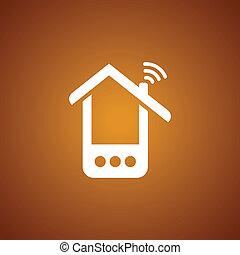Phone house over caramel