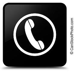 Phone icon black square button