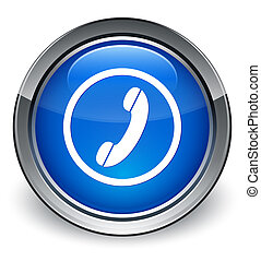 Phone icon blue round button