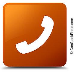 Phone icon brown square button