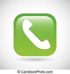 Phone icon. Button design. Vector graphic