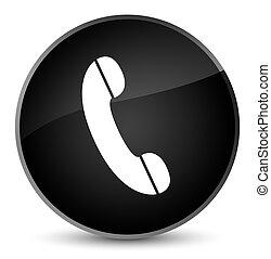 Phone icon elegant black round button