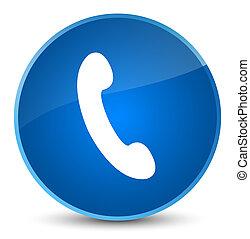 Phone icon elegant blue round button