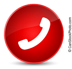 Phone icon elegant red round button