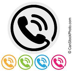 phone icon isolated on white