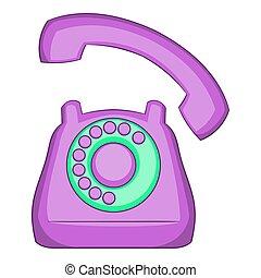 Phone icon, flat style