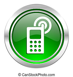 phone icon, green button, mobile phone sign