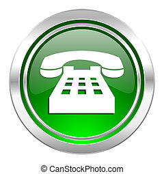 phone icon, green button, telephone sign