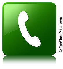 Phone icon green square button