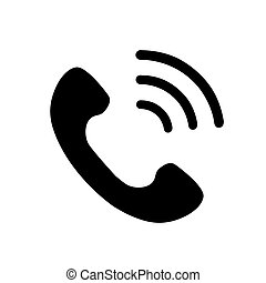 Phone icon in trendy flat style isolated