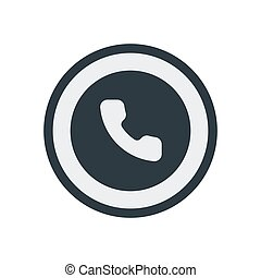 Phone icon in trendy flat style isolated. Telephone symbol. Stock Vector illustration.