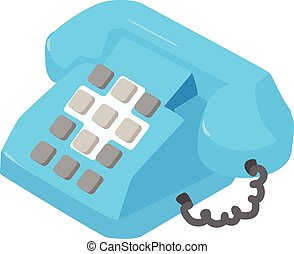 Phone icon, isometric style