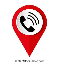 Phone icon on a white background. Vector illustration.