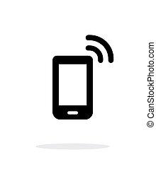 Phone icon on white background.
