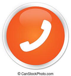 Phone icon orange button