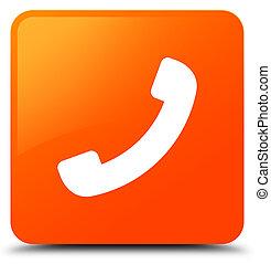 Phone icon orange square button