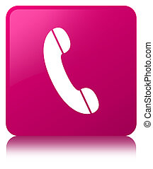 Phone icon pink square button