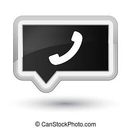 Phone icon prime black banner button