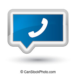 Phone icon prime blue banner button