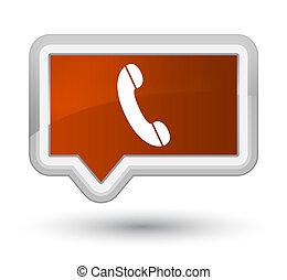 Phone icon prime brown banner button