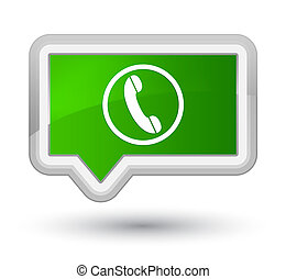 Phone icon prime green banner button
