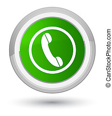 Phone icon prime green round button