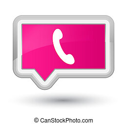 Phone icon prime pink banner button