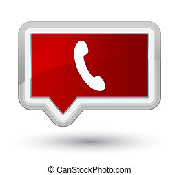 Phone icon prime red banner button
