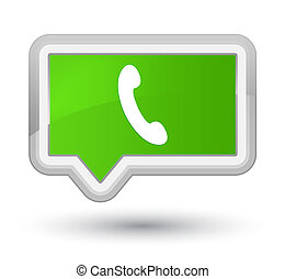 Phone icon prime soft green banner button