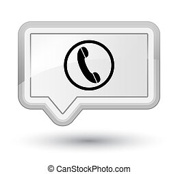 Phone icon prime white banner button