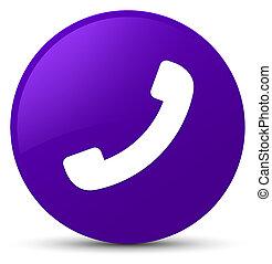 Phone icon purple round button