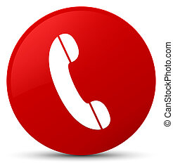 Phone icon red round button