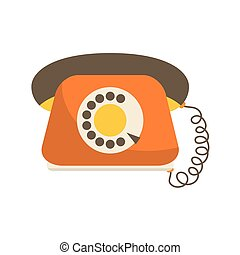 Phone icon. Retro design. Vector graphic