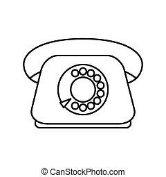Phone icon. Retro design. Vector graphic