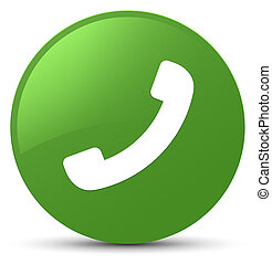 Phone icon soft green round button