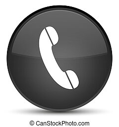Phone icon special black round button