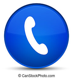 Phone icon special blue round button